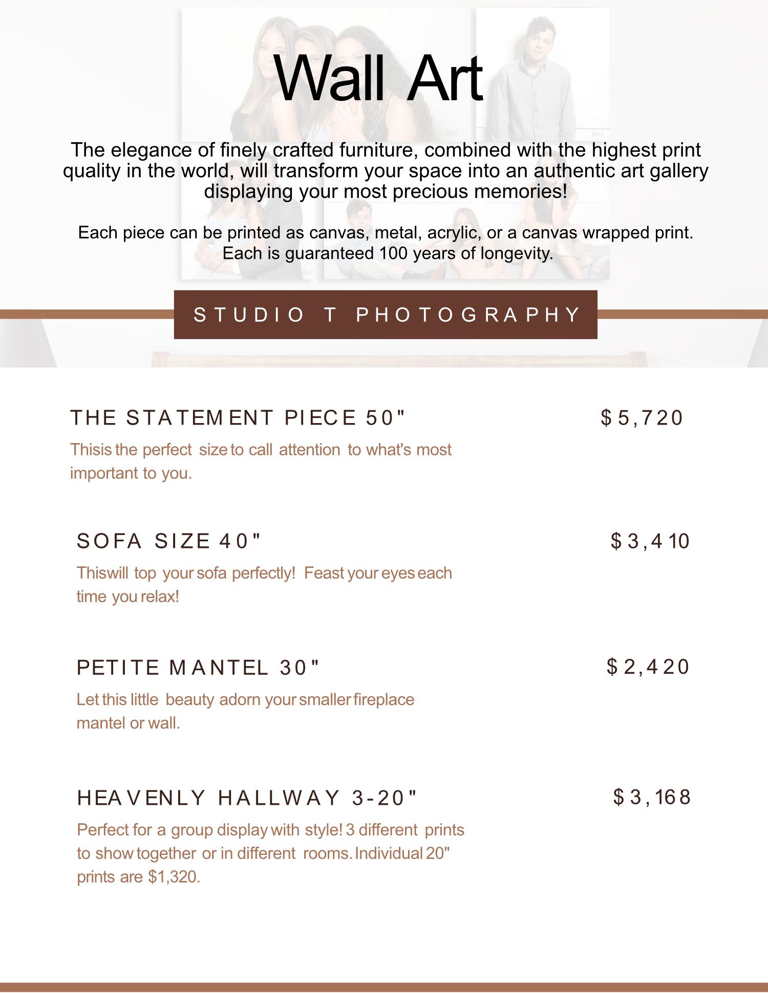 wall art menu